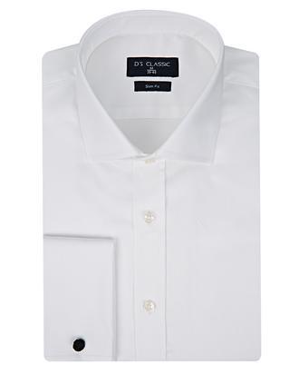 Ds Damat Slim Fit Beyaz Düz Gomlek - 8682060152763 | D'S Damat