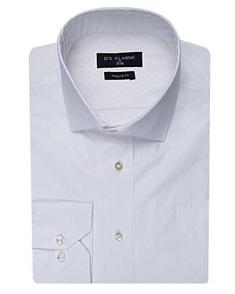 Ds Damat Regular Fit Beyaz Desenli Gömlek - 8681778946299   D'S Damat