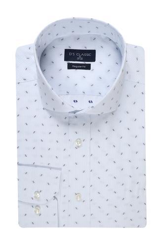 Ds Damat Regular Fit Beyaz Desenli Gömlek - 8681778859995   D'S Damat