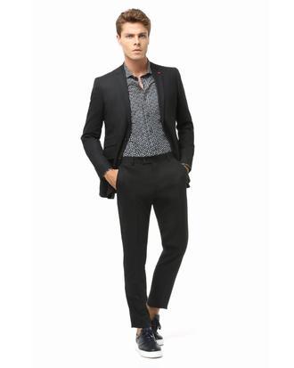 Twn Slim Fit Slim Fit Siyah Düz Takım Elbise - 8681779648642 | D'S Damat