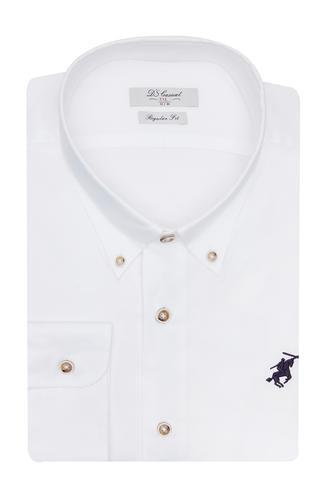 Ds Damat Regular Fit Beyaz Gömlek - 8681779302995   D'S Damat