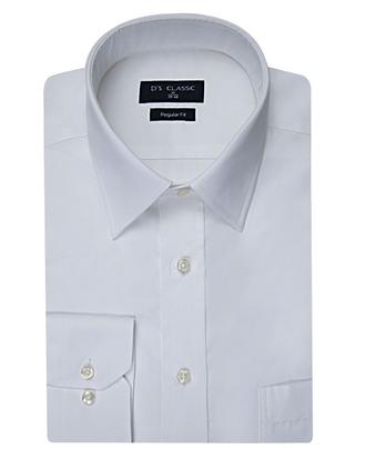 Ds Damat Regular Fit Beyaz Düz Gömlek - 8681779843412 | D'S Damat