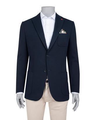 Twn Slim Fit Lacivert Örme Kumaş Ceket - 8682060236258 | D'S Damat