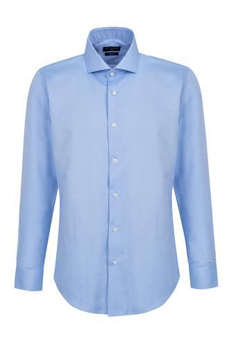 Ds Damat Slim Fit Mavi Armürlü Gömlek - 8681779892069 | D'S Damat