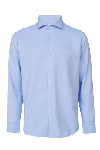 Ds Damat Slim Fit Mavi Armürlü Gömlek - 8681779899556 | D'S Damat
