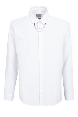 Twn Slim Fit Beyaz Armürlü Gömlek - 8681779929062 | D'S Damat