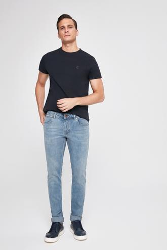 Twn Super Slim Fit Mavi Taşlı Denim Pantolon - 8681779867951   D'S Damat