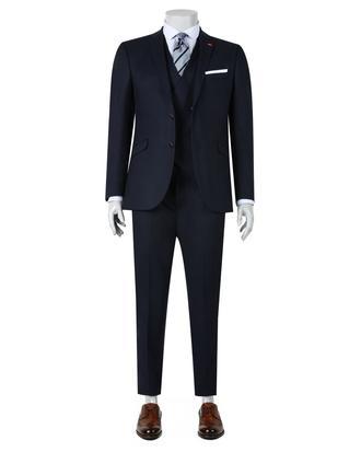 Twn Slim Fit Slim Fit Lacivert Düz Yelekli Takim Elbise - 8682060142320 | D'S Damat