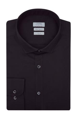 Twn Slim Fit Siyah Düz Gomlek - 8682060149725 | D'S Damat