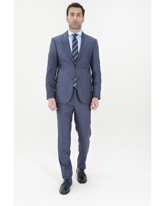 Ds Damat Slim Fit Slim Fit Lacivert Takım Elbıse - 8682060389343   D'S Damat