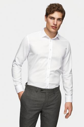 Tween Slim Fit Beyaz Gömlek - 8681649717683 | Damat Tween
