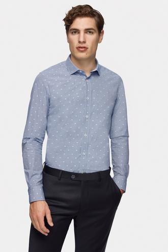 Tween Slim Fit Lacivert Gömlek - 8681649750345 | Damat Tween