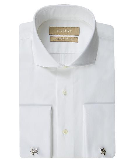 Damat Slim Fit Beyaz Düz Nano Care Gömlek - 8681649769262 | Damat Tween