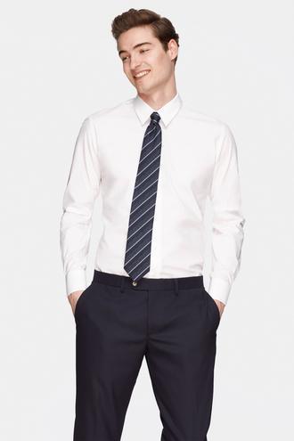 Damat Slim Fit Beyaz Düz Gömlek - 8681649810957 | Damat Tween