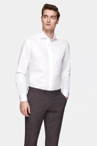 Damat Comfort Beyaz Düz Gömlek - 8681649813378 | Damat Tween