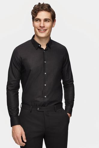 Tween Slim Fit Siyah Desenli Gömlek - 8681649837282 | Damat Tween