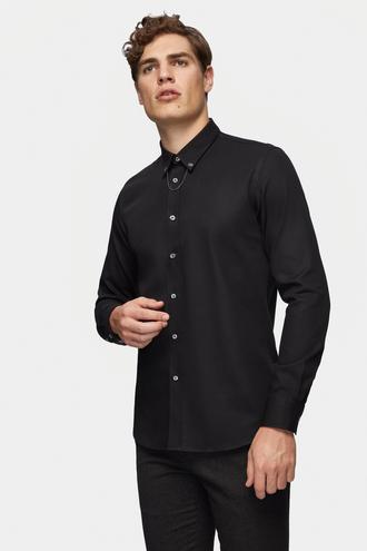 Tween Slim Fit Siyah Gömlek - 8682364350520 | Damat Tween