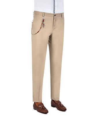 Tween Super Slim Fit Bej Desenli Chino Pantolon - 8681649031765   Damat Tween