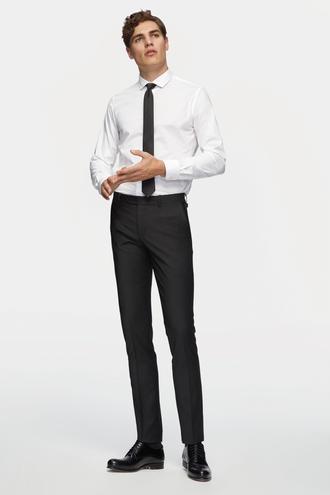 Tween Slim Fit Siyah Desenli Kumaş Pantolon - 8681649578567 | Damat Tween