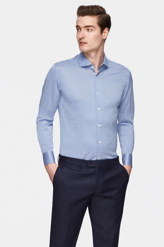 Damat Slim Fit Mavi Desenli Gömlek - 8681649644842 | Damat Tween
