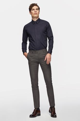 Tween Slim Fit Bordo Desenli Kumaş Pantolon - 8681649643272   Damat Tween