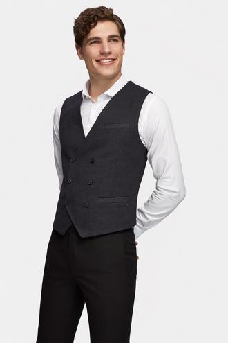 Tween Slim Fit Lacivert Desenli Yelek - 8681649650560 | Damat Tween