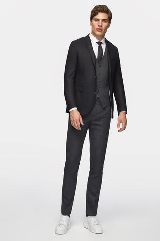 Tween Slim Fit Slim Fit Siyah Desenli Yelekli Takım Elbise - 8681649656098   D'S Damat