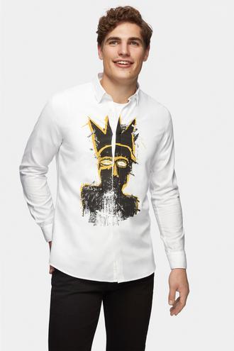 Tween Slim Fit Beyaz Baskılı Gömlek - 8681649675594 | Damat Tween