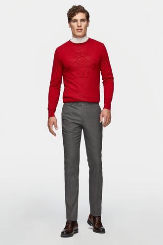 Tween Slim Fit Gri Kumaş Pantolon - 8682364463831 | Damat Tween