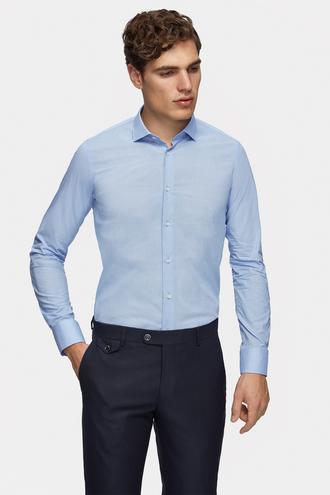 Tween Slim Fit Mavi Gömlek - 8681649716136   Damat Tween