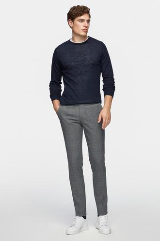 Tween Slim Fit Gri Kumaş Pantolon - 8681649728443 | Damat Tween