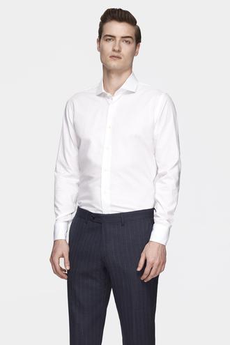 Damat Slim Fit Beyaz Desenli Gömlek - 8681649733348 | Damat Tween