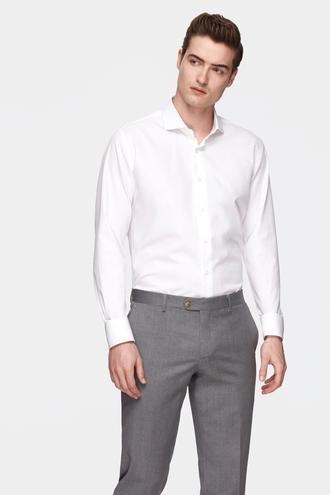 Damat Slim Fit Beyaz Desenli Gömlek - 8682364469093   Damat Tween