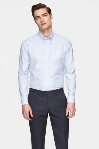 Damat Comfort Mavi Desenli Gömlek - 8681649733843 | Damat Tween