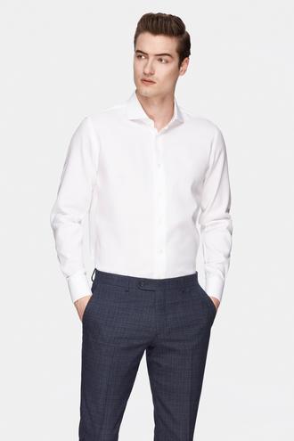 Damat Slim Fit Beyaz Desenli Gömlek - 8681649734536 | Damat Tween
