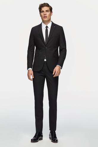 Tween Slim Fit Slim Fit Siyah Düz Takım Elbise - 8681649816362 | Damat Tween
