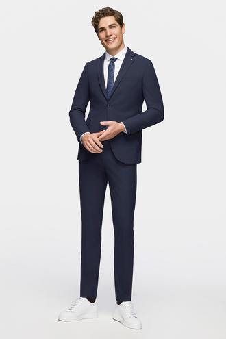 Tween Slim Fit Lacivert Düz Takım Elbise - 8682364345472 | Damat Tween