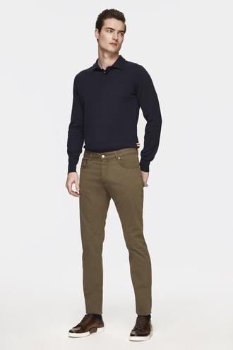 Damat Slim Fit Haki Chino Pantolon - 8681649821069 | Damat Tween