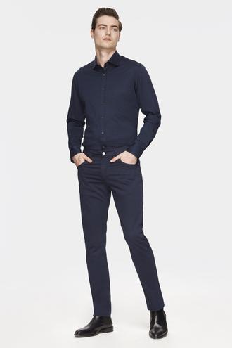 Damat Slim Fit Lacivert Chino Pantolon - 8681649821342 | Damat Tween