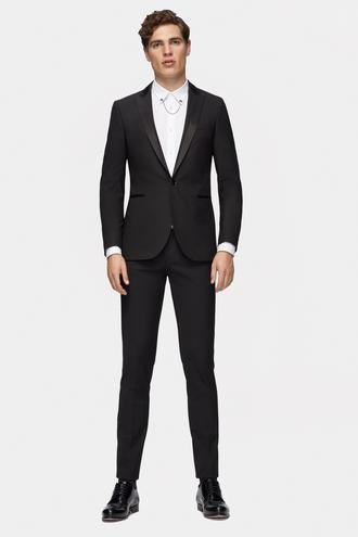 Tween Slim Fit Slim Fit Siyah Düz Smokin Takım - 8681649828976 | Damat Tween