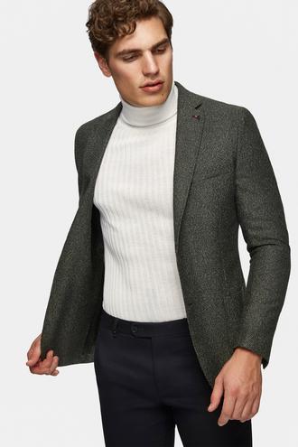 Tween Slim Fit Haki Ceket - 8682060235930 | D'S Damat