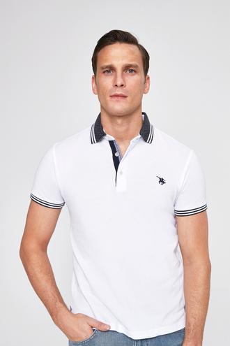 Ds Damat Slim Fit Beyaz T-shırt - 8681779870371 | D'S Damat