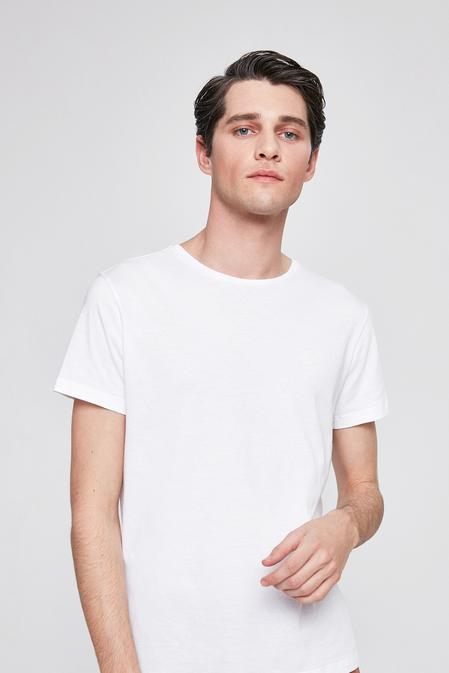 Twn Slim Fit Beyaz Düz T-shirt - 8681779813675 | D'S Damat