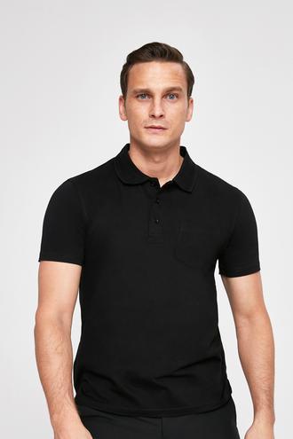 Ds Damat Regular Fit Siyah Pike Dokulu T-shirt - 8682445308853 | D'S Damat