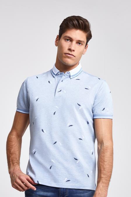 Ds Damat Regular Fit Mavi Baskılı T-shirt - 8682060081711 | D'S Damat