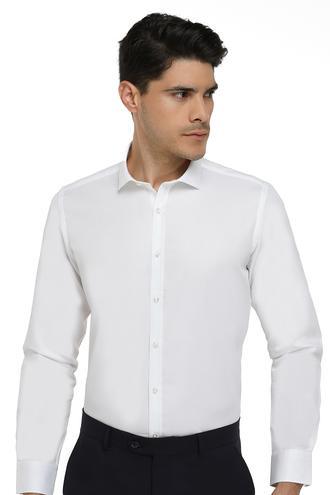 Twn Slim Fit Beyaz Armürlü Gömlek - 8681779656265   D'S Damat