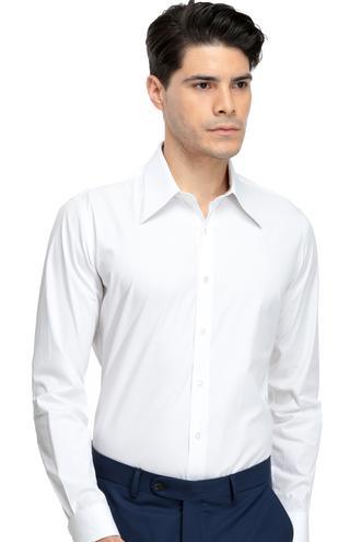 Twn Slim Fit Beyaz Gömlek - 8681779617587 | D'S Damat