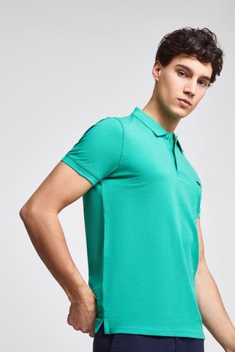 Twn Slim Fit Yeşil Düz T-Shirt - 8682060348968 | D'S Damat