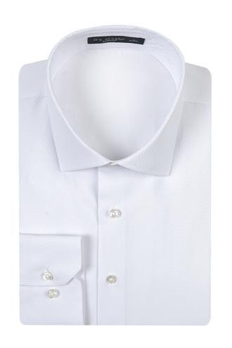 Ds Damat Slim Fit Beyaz Armürlü Gomlek - 8682060785107 | D'S Damat