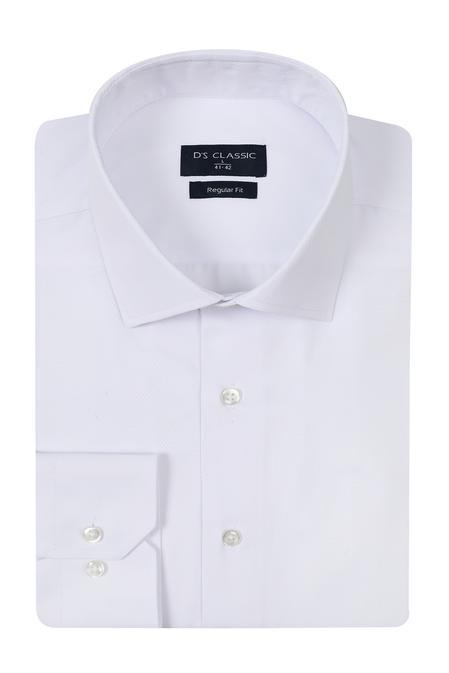 Ds Damat Regular Fit Beyaz Armürlü Gomlek - 8682060785206 | D'S Damat